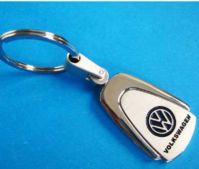 Porte clef VW Chromé large